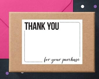 Je vous remercie Stickers | Cartes de remerciement | Autocollants pour emballage | Business Merci Stickers | Write-On Merci étiquettes | Autocollants Poshmark