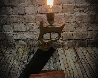 Carpenters Saw and Block Table Lamp