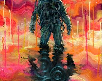 "Art Tapestry - Large Format Art - ""Spaceman Spliff"" by Black Ink Art"