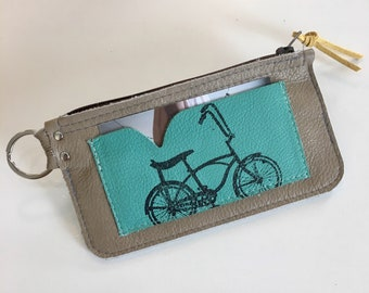 Banana seat bicycle keychain coin pouch