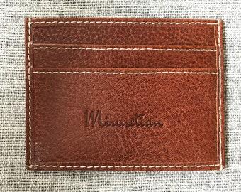 Minimal Elegant Leather Wallet - by Minnetian