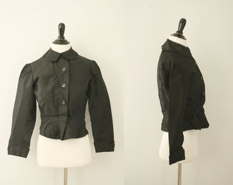 1900s jacket | vintage edwardian black silk jacket