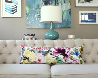Orangerie Rose designer lumbar pillow covers - Made to Order - Designers Guild