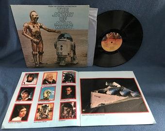 "RARE, Vintage, ""The Story Of Star Wars"" John Williams, Original Film Score and Dialogue, Soundtrack, Vinyl LP, Record Album"