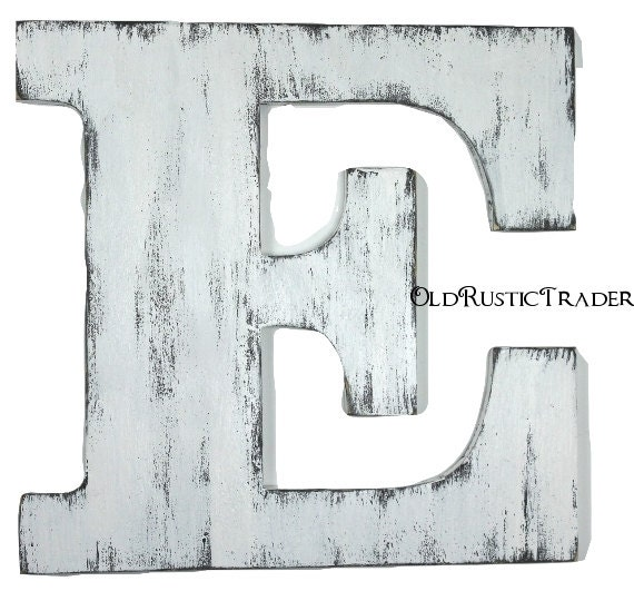 rustic alphabet letter e 18 inch large letter wall decor. Black Bedroom Furniture Sets. Home Design Ideas