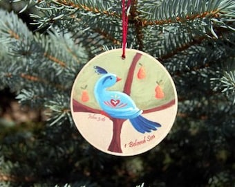 12 Days of CHRISTmas Ornaments  - READY TO SHIP - Christian meanings included