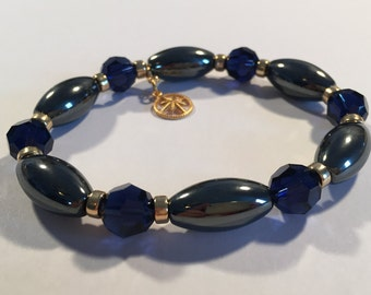Ambition & Motivation Gold Therapeutic Sacred Energy Infused Swarovski Crystal Healing Bracelet by Crystal Vibrations Jewelry