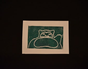 Snorlax Print