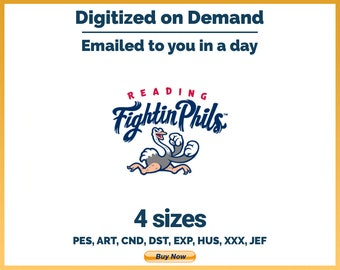 Reading Fightin Phils - MiLB Sports Logo Embroidery Design - 4 sizes Embroidery