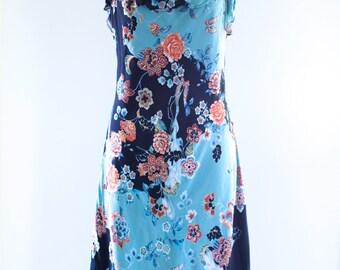 SALE! Colorful Floral Crepe Dress