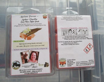 Ancient Power - Amber Vanilla Scented Soy Wax Melts Pack