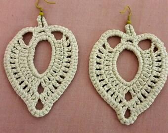 Beautiful drop earrings in pale green