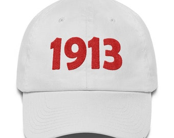 Delta Sigma Theta 1913 White Cotton Cap