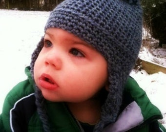 Toddler Earflap Hat Pattern