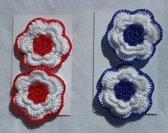 LARGE CROCHET FLOWERS (Silk Edged)