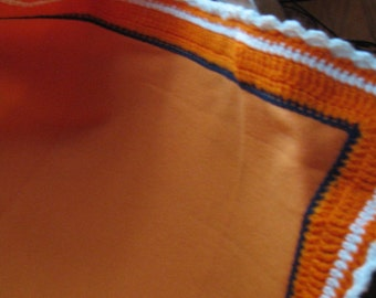 B-093 Orange Fleece Blanket