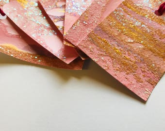 Glittery Pink Gift-Tags