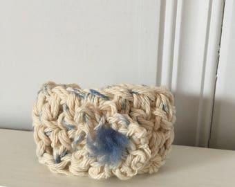 Custom made hand crochet cuff bracelet