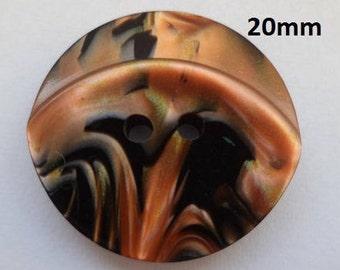 12 Knöpfe kupfer schwarz 20mm (100) Knopf