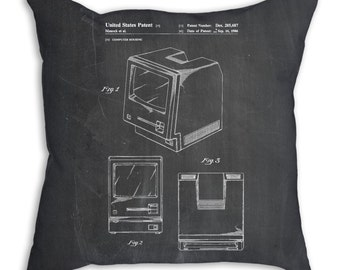 First Apple Computer Pillow, Apple Patent, Apple Pillow, Tech Gift, Computer Geek Gift, PP0176