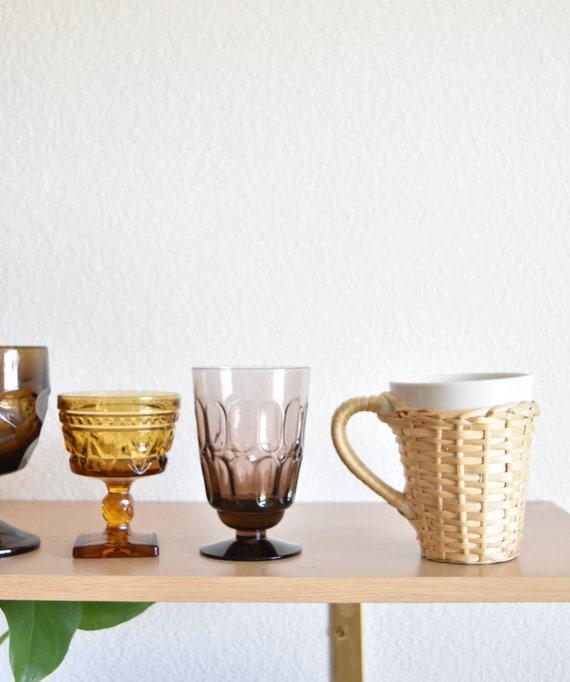 boho woven wicker ceramic coffee mug with sleeve