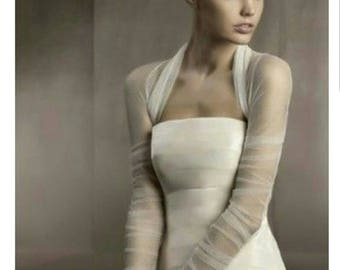 Yours and Mine Fall 2017 Womens Bridal Separates: Sheer Bridal Shaw, Wrap, Shrug, White or Ivory All Sizes USA Seller