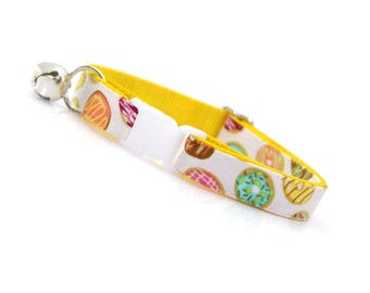 """Doughnut Cat Collar - """"Frosted Donuts"""" - Donut Cat Collar Breakaway / Cute Cat Collar / Fun Cat Collar / Cat, Kitten & Small Dog Sizes"""