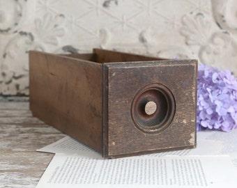 Vintage Wooden Desk Drawer, Wood Drawer Box, Rustic Wood Drawer, Rustic Farmhouse Decor