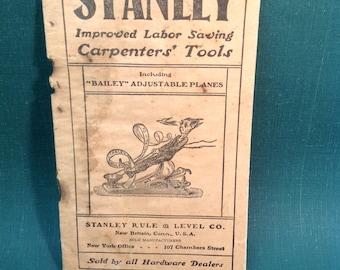 1902 Stanley 'Imp' Pocket Catalog