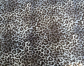 Stormy Blue Leopard Print Georgette Fabric - 58 Inches Wide