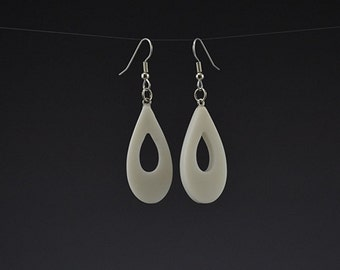 Corian Lg Teardrop Earrings Upcycled earrings Recycled earrings Pierced earrings Dangle earrings Upcycled jewelry Recycled jewelry Mark Noll