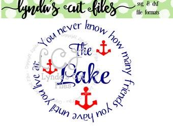 Lake Friends SVG/DXF file