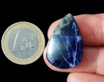 Natural, blue white Sodalite cabochon stone (SO41)
