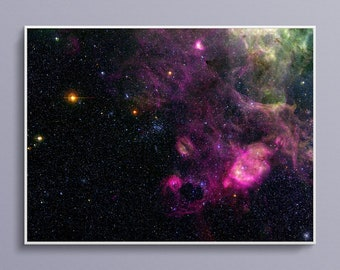 Ring Shaped Nebula in the Large Magellanic Cloud Art Poster Print