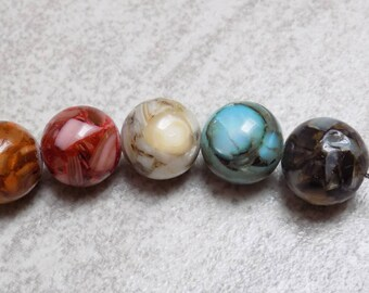 River Shell beads—13mm