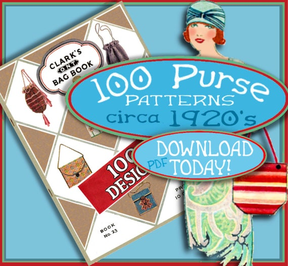 Vintage & Retro Handbags, Purses, Wallets, Bags MAKE 100 Flapper Bags and Purses 1920s Vintage e-Booklet PDF $3.99 AT vintagedancer.com