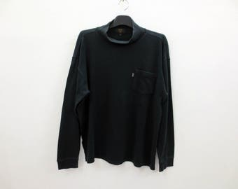 MCM Shirt Men Size M Vintage MCM Turtleneck Shirt MCM Solid T