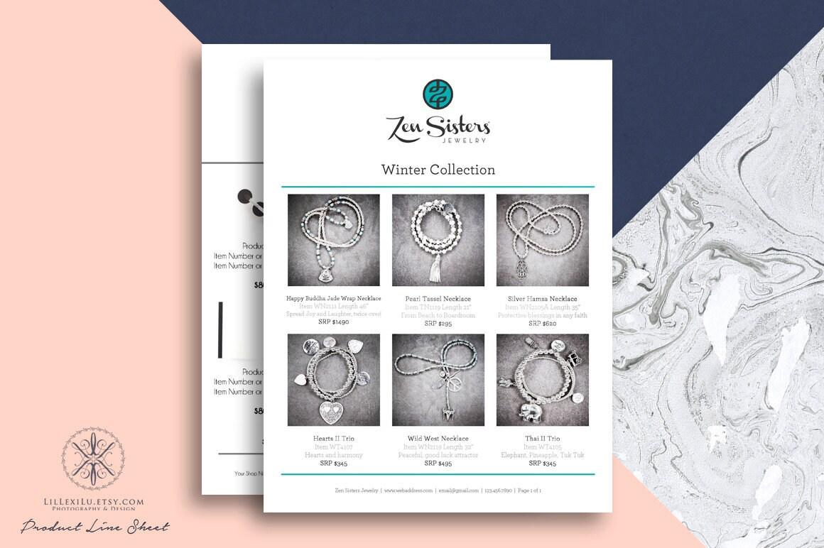 line sheet photoshop template wholesale catalog product. Black Bedroom Furniture Sets. Home Design Ideas