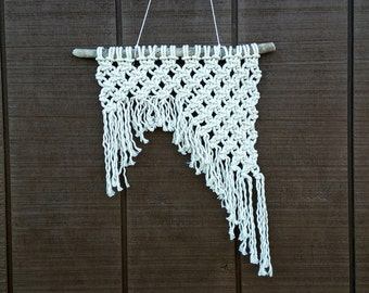 SALE / Small Macrame Woven Wall Hanging