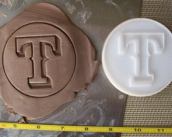 Custom Pottery Stamp or Polymer Clay Embossing Die under 2""