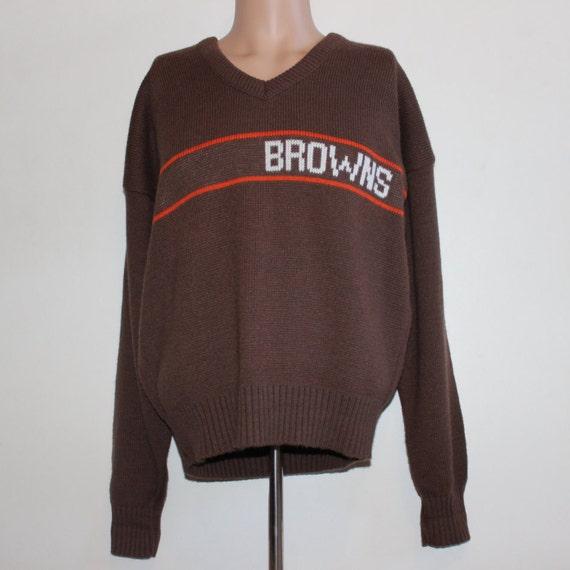 Vintage Cleveland Browns Cliff Engle NFL Sweater L QqXK306Hwt