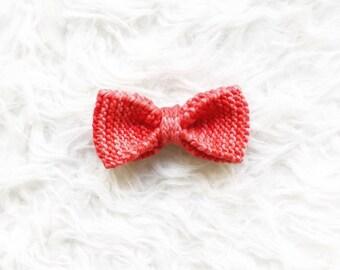 Red Knit Bowtie, Handknit Merino Wool Bowtie, OnanaKnits Bright Red Knitted Bowtie, Men's Knitted Bow tie, Wedding Bow ties, Groom Bowtie