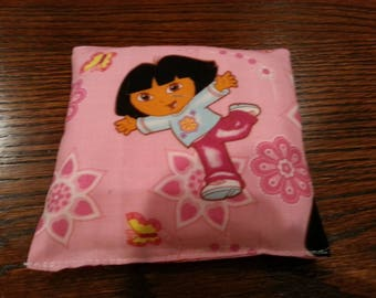 Boo Boo Packs, Ouch Pouch, Reuseable Hot or Cold Rice Packs, Kids Ice Pack, Handwarmers, Heating Pad, Set of 2, Cotton Dora fabric !