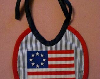Baby Bib USA Flag