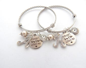 Bridesmaid Jewelry Gift- Bridesmaid Bracelet Couldn't say I do without You- Maid of Honor Bracelet-Will you be my bridesmaid Proposal Gift