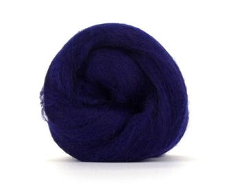 Tanzanite (Purple) Merino Combed Top - 100 grams (3.5 oz) so Spin, Felt, Blend, Create Fiber Art