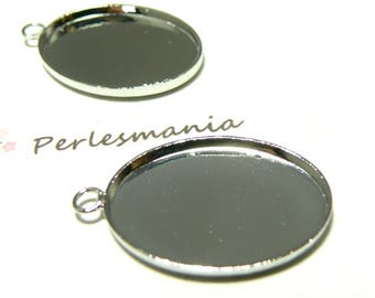 Finish 1 oval pendant 18 mm by 25mm quality PP