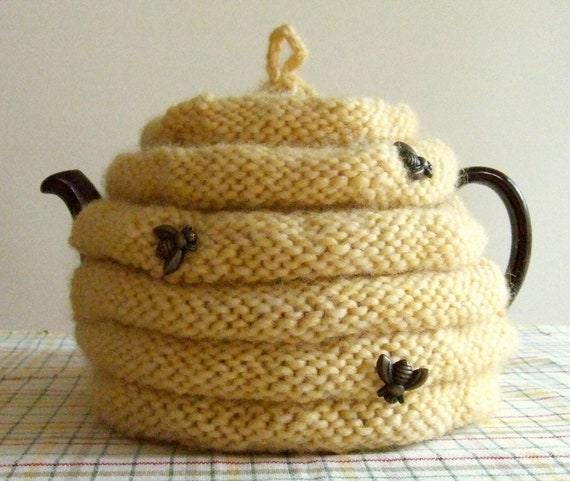 Knitting Pattern Spouted Beehive Tea Cozy Knit Tea Cozy