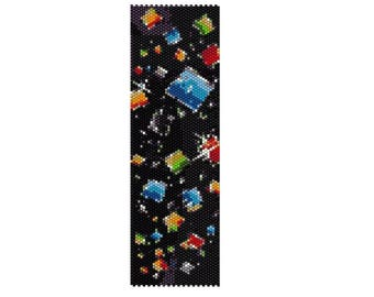 BPTI0001 Tiles Even Count Single Drop Peyote Cuff/Bracelet Pattern