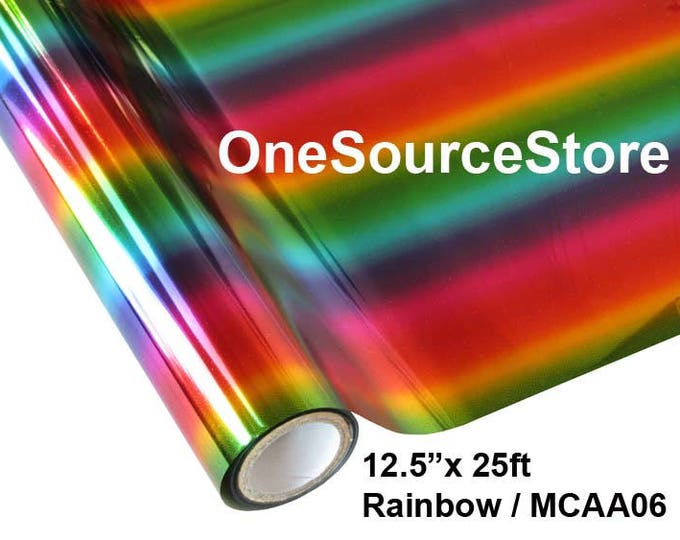 """HTV Textile Foil* / 12.5 """"x 25 ft / Rainbow/ MCAA06"""